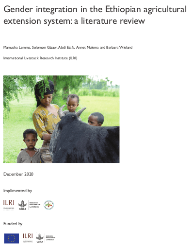 Gender integration in Ethiopian Agricultur